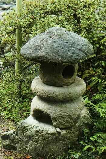 Каменный японский фонарь своими руками 50