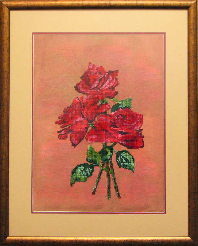 Розы-бисер-1