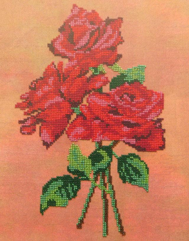 Розы-бисер-2