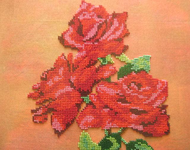 Розы-бисер-3