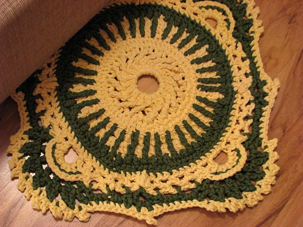 Ручное вязание ковриков - Вязание ковров - - Крючок